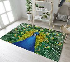 Beautiful Peacock Design Floor Mat Rug Carpet Area Rugs for Living Room Bedroom