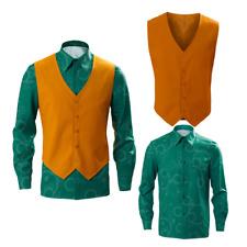Joker 2019 Arthur Fleck Joaquin Phoenix Cosplay Costume Shirt Vest Halloween