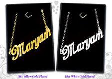 Collier Prénom MARYAM 18k Plaqué or - Fait sur mesure Arabe Bijoux Personnalisé