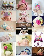 New Baby Boys Girls Costume Crochet Knit Beanie Owl Photo Prop 00,0,1,2