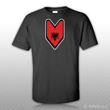 Albanian Driver Badge T-Shirt Tee Shirt Free Sticker wakaba soshinoya Albania