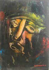 GIANDANTE X (Pescò Milano 1899-1984) VOLTO encausto su cartone cm35x50 anno 1964