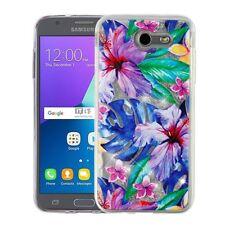 Watercolor Hibiscus Silver Sand Glitter Cover Case Samsung Galaxy J3 L