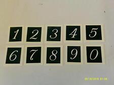 """Giant 3 """" 7.5 cm Nombres 0 - 9 pochoirs pour gravure sur verre (mixte) 0 1 2 3 4 5"""