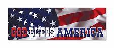 "God Bless America USA US Flag Star Banner 9""x3"" bumper sticker decal"