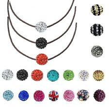 collar bola SHAMBALLA En Cordón negro LONGITUD & elección del color