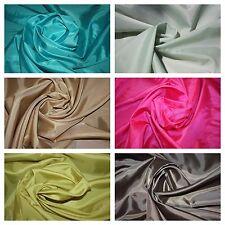 "Solid Taffeta Fabric 20 Yard Brown Lime Pink Khaki Light Green Teal 60"" Width"