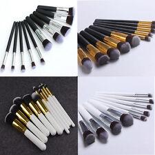 10Pcs Kabuki estilo profesional Maquillaje Pincel de Fundación Colorete Polvo de la cara
