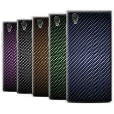Gel/TPU Coque/Etui de Stuff4 pour Sony Xperia L1/Motif de Fibre de Carbone