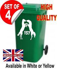 4 x Fighting Horses -  wheelie bin numbers