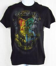 Mens NWT Harry Potter Hogwarts Gryffindor Logo Short Sleeve Black T-Shirt S L