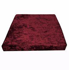 Mv25t Dark Red Diamond Crushed Velvet Sofa 3D Box Seat Cushion Cover Custom size