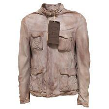 9817Q giubbotto uomo 0.41 ZEROQUATTROUNO giubbino pelle tortora jacket men