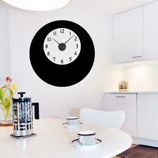 Sticker mural Horloge géante Double Ronds avec mécanisme aiguilles
