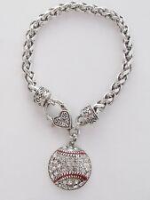 Baseball Crystal Fashion Bracelet Jewelry