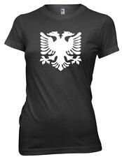 Albanian Flag Albania 2 Headed Eagle Funny Womens Ladies T-Shirt