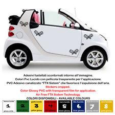 adesivi pretagliati farfalle pvc batterfly sticker auto multi color 4 pz.