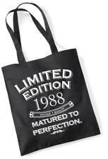 29th Bolsa De Compras Bolso Regalo de Cumpleaños Edición Limitada 1988 madurado a la perfección