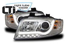 LTi Scheinwerfer Audi A4 8E B6 Bj. 2001-2004 chrom LED Tagfahrlicht O.Light Tube