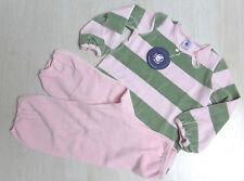 Schlafanzug, Nicky, rosa/hellgrün geringelt, von Petit Bateau.  NEU!