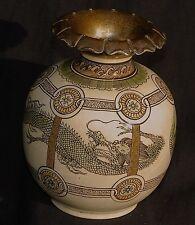Meiji Japanese Dragon Vase Shreve Sterling Mount Arts & Crafts Sickley era 1910