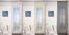 Cortina organza tamaño 140x245 cm de colores: blanco, champán y antracita