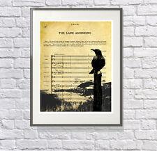 The Lark Ascending - Vaughan Williams Art Gift for Classical Music Lover Print