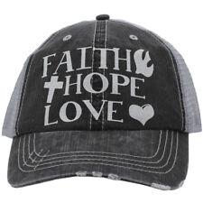 Faith, Hope, Love/ believe Hats/distressed/
