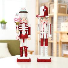 Cup Cake Wooden Nutcracker Lollipop Walnut Soldier Christmas Ornaments Gift 38cm