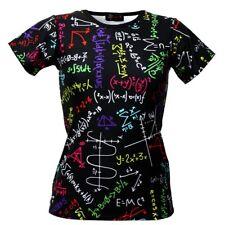 Donna MATEMATICA Formulas LAVAGNA SCUOLA Stampa T-shirt a girocollo top taglia
