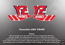 YAMAHA 1988 YZ490 FUEL TANK DECALS GRAPHICS LIKE NOS
