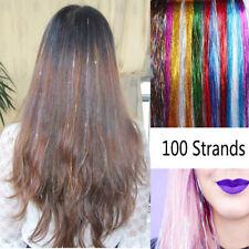 HAIR Tinsel Silk Bling EXTENSIONS Glitter Sparkly Highlights Streak Clubbing