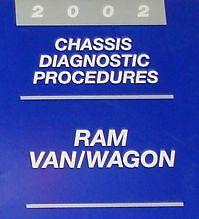 2002 DODGE RAM VAN WAGON Service Repair Shop Manual CHASSIS DIAGNOSTIC OEM 02