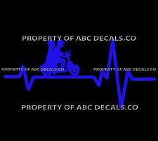 VRS HEART BEAT LINE SCOOTER Electric Gas Couple Helmet Vespa CAR VINYL DECAL