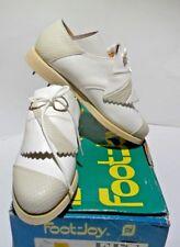 Foot Joy FJ's Ladies Spiked Golf Shoe Vintage Two Tone Leather Oxford USA RARE