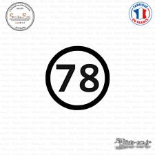 Sticker Département 78 Yvelines Ile de France Versailles Decal Aufkleber