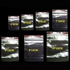 Lot de 100 sachets sacs zip 4X6 cm a 12x17 cm poches pochons hermétiques