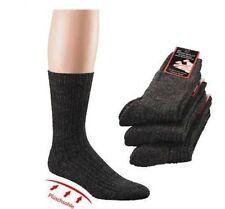 3 Paar Plüschsohle-Socken,mit Schafwolle,mouline,6er Teilung für Arbeit,Freizeit