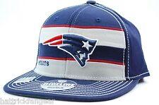 REEBOK NFL SCRIMMAGE FLEXFIT FLATBILL FOOTBALL HAT - NEW ENGLAND PATRIOTS