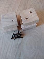 Oak Furniture Feet / Foot / Legs /Pads 70mm sq  Sofa, Settee, Cabinets & Beds