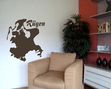 Wandtattoo Insel Rügen Wandaufkleber  25 Farben 5 Größen