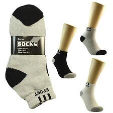 3 6 One Dozen Ankle/Quarter Crew Mens SPORT Socks Cotton Low Cut Size 9-11 10-13