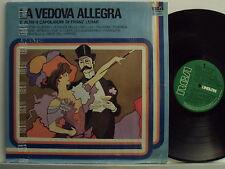 FRANZ LEHAR disco LP 33 giri LA VEDOVA ALLEGRA stampa ITALIANA Cesare Gallino
