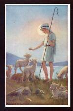 MARGARET TARRANT artist drawn Boy shepherd sheep PPC