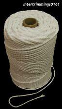 4MM Naturel Tordu Coton Corde de Tuyauterie, Disponible en Différentes Longueurs