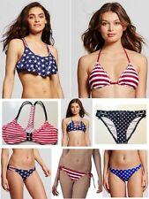 Xhilaration Women American Flag Bikini TOP or BOTTOM Patriotic- Swim wear