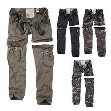 SURPLUS Raw Vintage Donna Premium trekking cargo zip FUORI Pantaloni &