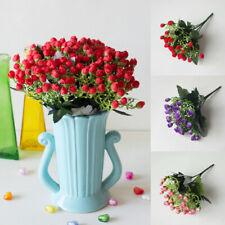 36Heads/bunch Handmade Artificial Bouquet Silk Flowers Small Bud Rose