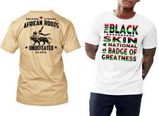 African Roots t-shirt, black history month, MLK, Angela Davis, Garvey, Malcolm X