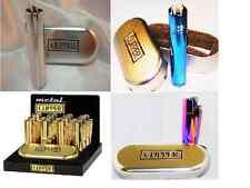 "Solid Metal Flint Ignition Clipper Lighter "" Mix Colour, Rainbow, Blue, Golden"